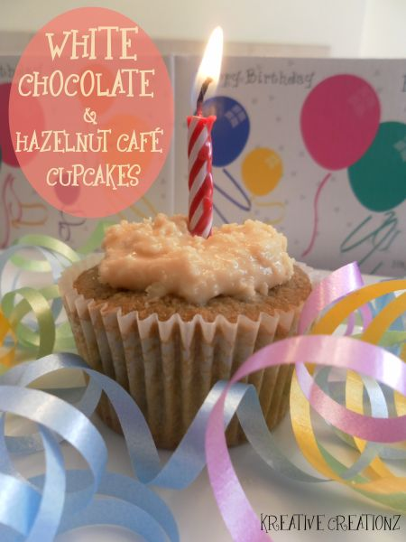 White Chocolate & Hazelnut Cafe Cupcakes - The Kreative Life