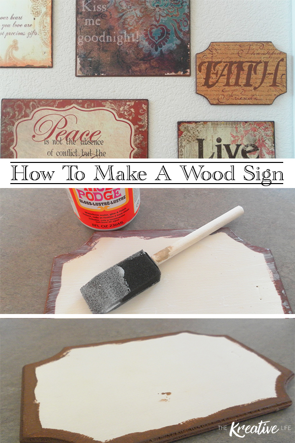 Learn how to make a wood sign to add to your home decor. - The Kreative Life