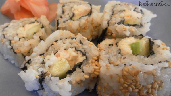Rolling Sushi Without a Mat - The Kreative Life