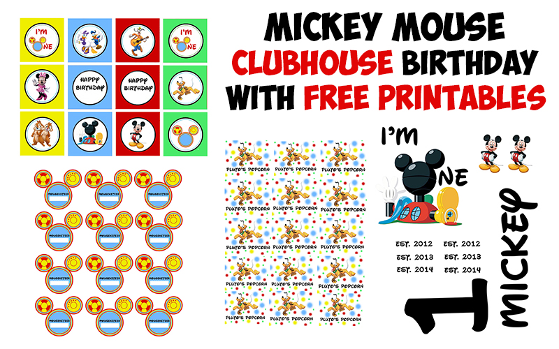 Mickey Mouse Clubhouse Birthday Party Printable - The Kreative Life