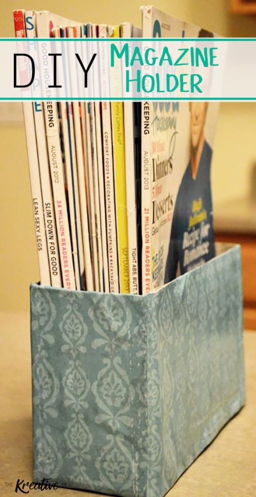 This DIY Magazine Holder will fit perfectly into your home decor. - The Kreative Life
