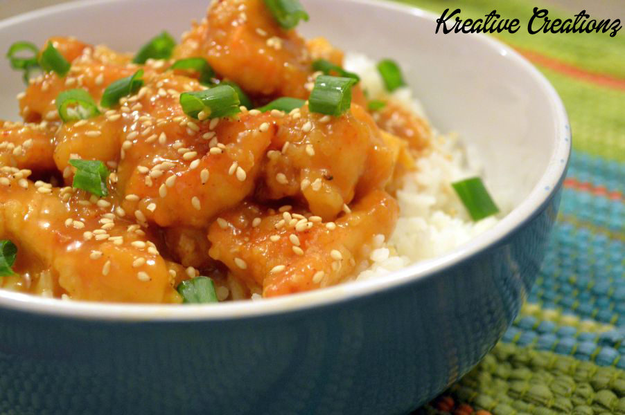 Orange Ginger Chicken - The Kreative Life