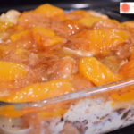 Loaded French Toast Casserole with Peaches
