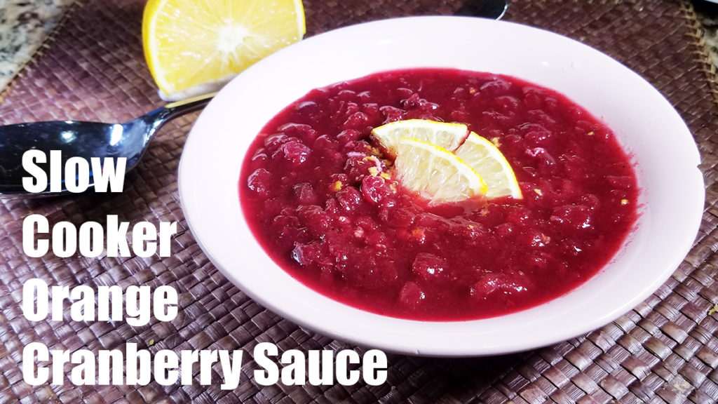 Slow Cooker Orange Cranberry Sauce - The Kreative Life