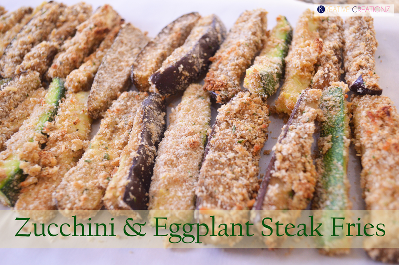 Zucchini and Eggplant Steak Fries - The Kreative Life