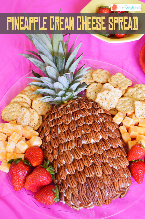 Pineapple Cream Cheese Spread - The Kreative Life