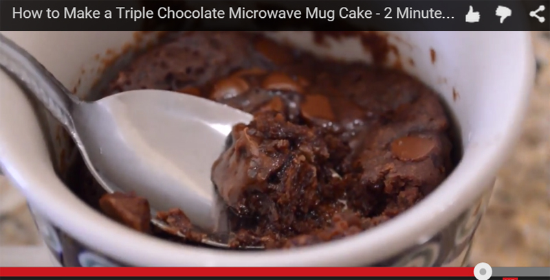 How to Make a Triple Chocolate Mug Cake
