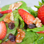 STRAWBERRY SPINACH SALAD WITH STRAWBERRY VINAIGRETTE - The Kreative Life