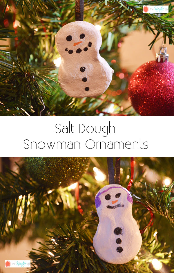 Salt Dough Snowman Ornaments