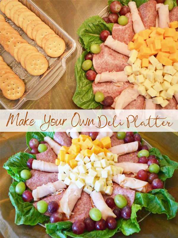 Learning how to make a deli platter is easier than you think. Your guest will love your homemade deli platter and will want to use these 4 easy steps for their very own diy deli tray. - The Kreative Life