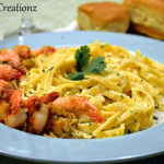 Parmesan Crusted Shrimp with Fettuccine