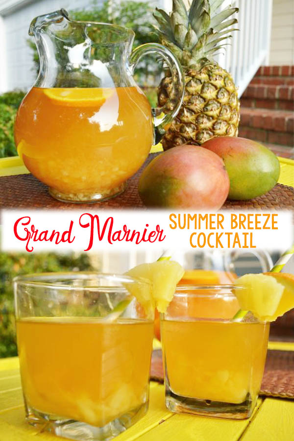 If you ever need a Grand Marnier summer cocktail you'll love this one! The flavors of mango and pineapple paired with the sweetness of Grand Marnier makes this one of the best Grand Marnier drink recipes.