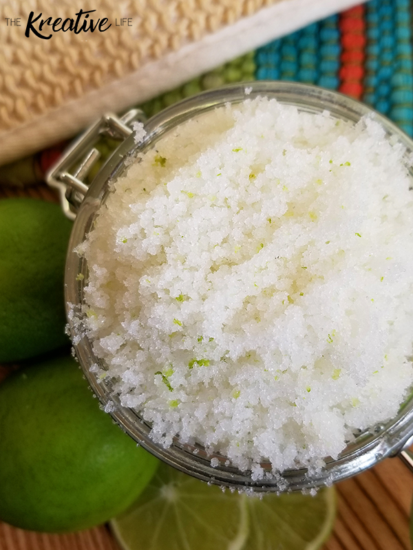 A margarita sugar scrub that will leave your skin feeling soft, smooth, and rejuvenated! This margarita body scrub recipe is easy to make and isn't at all stick, unlike other homemade margarita sugar scrub recipes you'll find. Enjoy your homemade diy margarita scrub in the comfort of your own home. - The Kreative Life